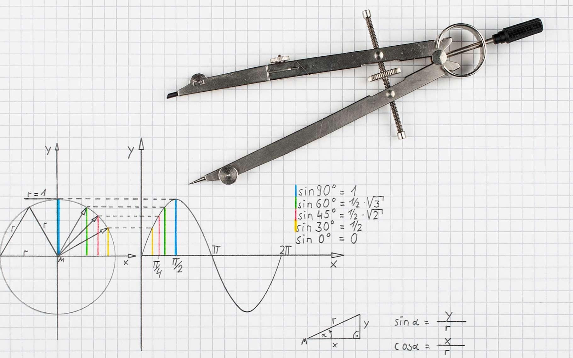 La trigonométrie est une branche des mathématiques qui s'intéresse aux mesures dans les triangles. © Spiber.de, Fotolia