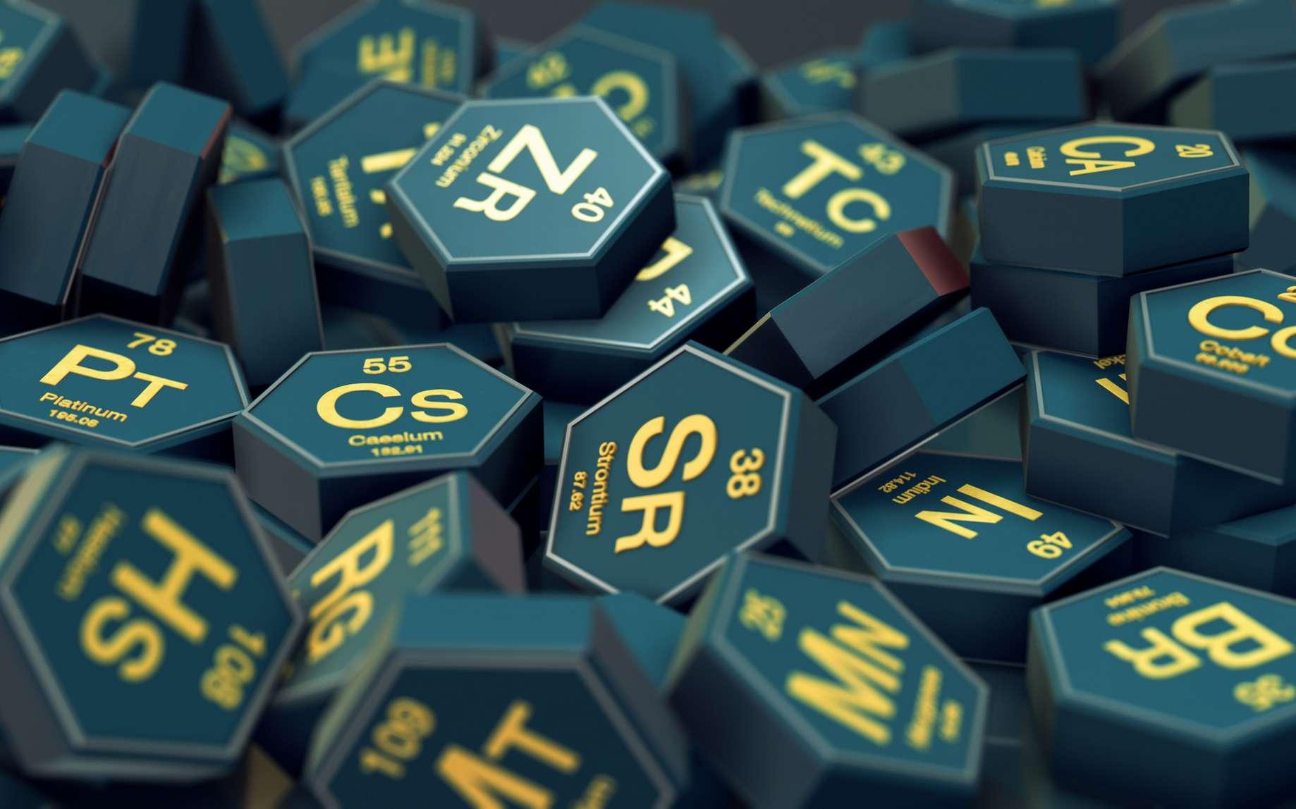 Par convention, la masse d'un atome est déterminée par son numéro atomique, soit le nombre de protons de son noyau. © lucadp, Fotolia