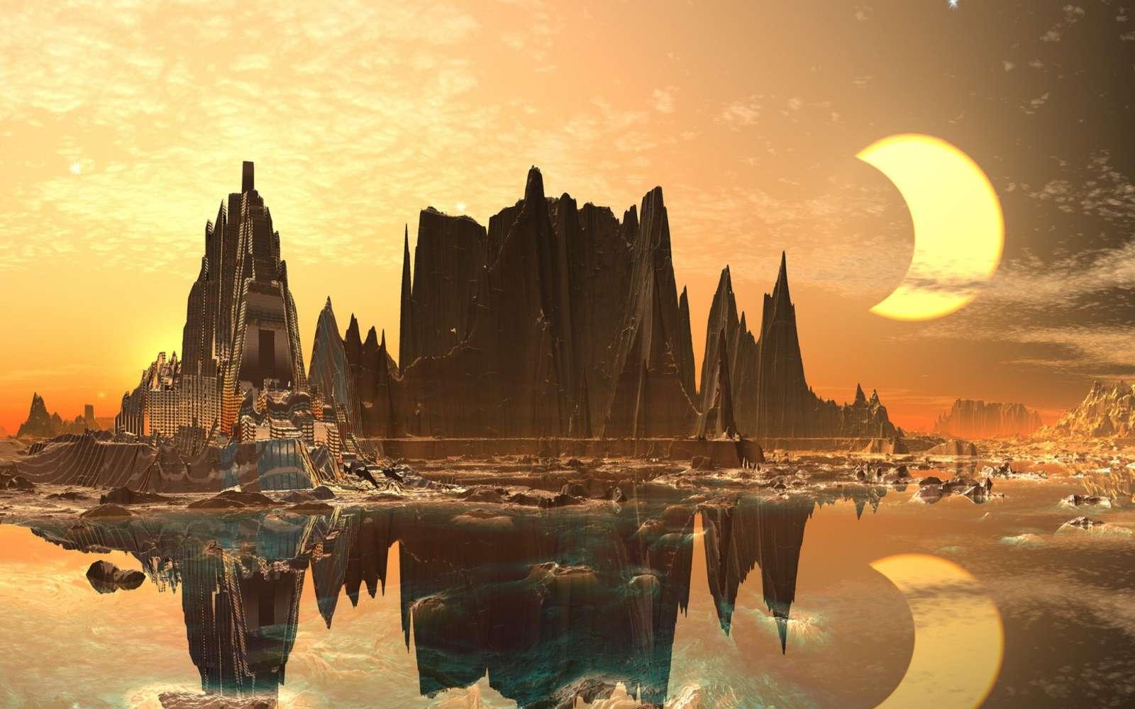 Sur Hypérion, le voile se lève sur les Tombeaux du Temps. Bientôt ils s'ouvriront et le terrible secret de leur fondation sera dévoilé. © Angela Harburn, Fotolia