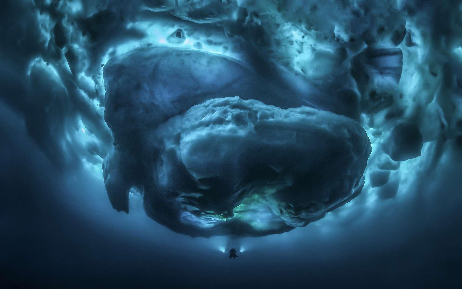 « Sous le zéro », gagnant 2020 du concours de la plus belle photo sous-marine dans la catégorie Grand angle. © Tobias Friedrich, UPY 2020