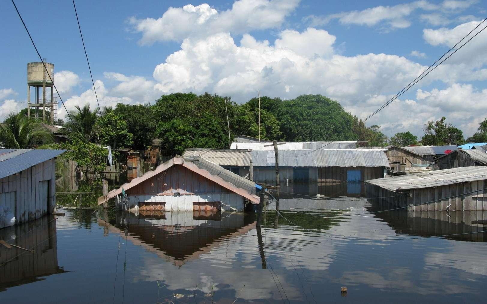 Inondations à Manacapuru, dans l'État d'Amazonas au Brésil. © guentermanaus, Fotolia