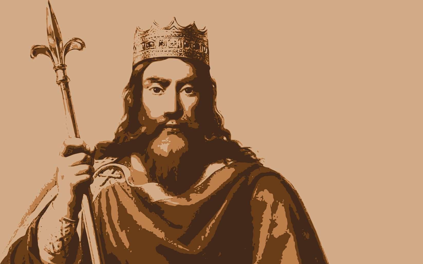 Portrait de Clovis, roi des Francs. © pict rider, fotolia