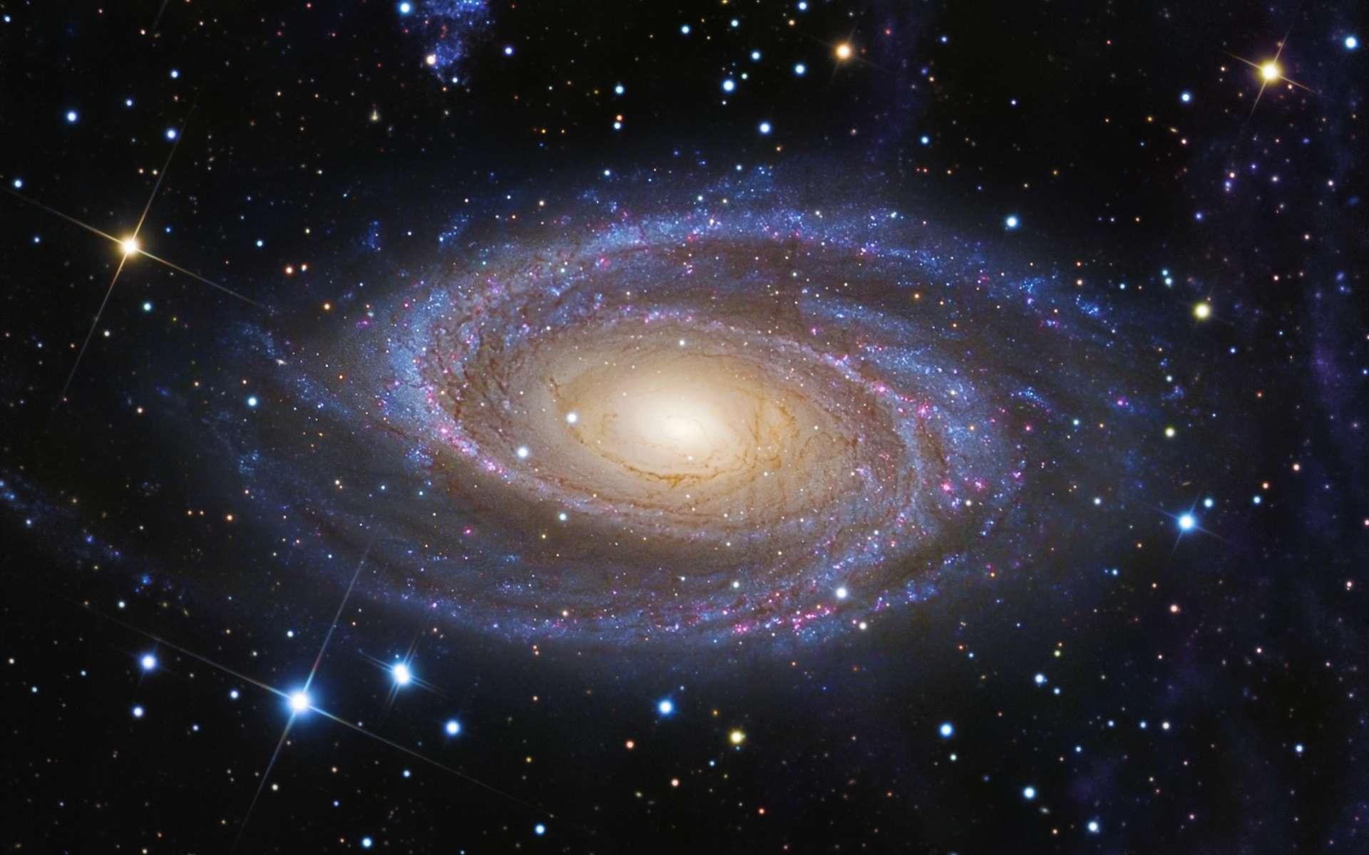 Une photo de la galaxie M81 avec en haut à droite la boucle de Arp. © R. Jay GaBany - Collaboration : A. Sollima (IAC), A. Gil de Paz (U. Complutense Madrid) D. Martínez-Delgado (IAC, MPIA), J.-J. Gallego-Laborda (Fosca Nit Obs.), T. Hallas (Hallas Obs.)