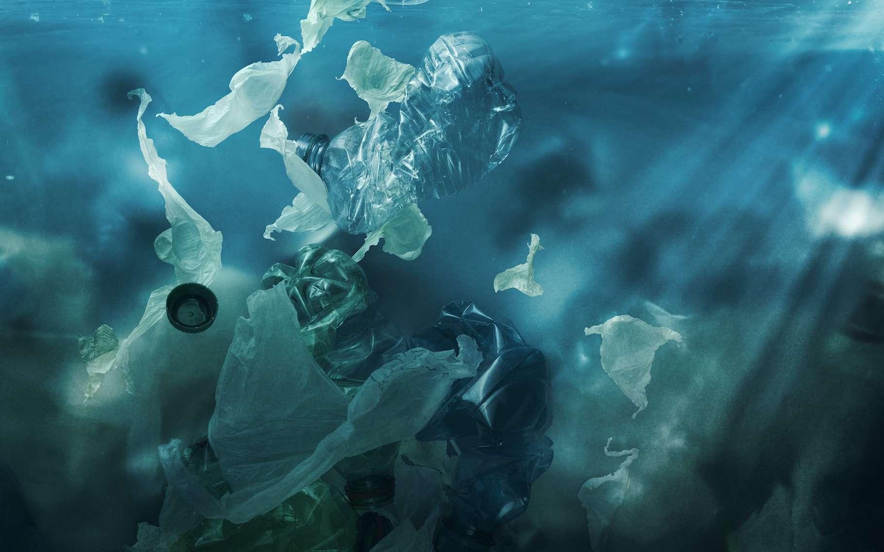 Des chercheurs de l'université du Michigan (États-Unis) ont mis au point une technique qui leur permet de suivre au jour le jour le parcours des microplastiques dans l'océan. © stokkete, Adobe Stock