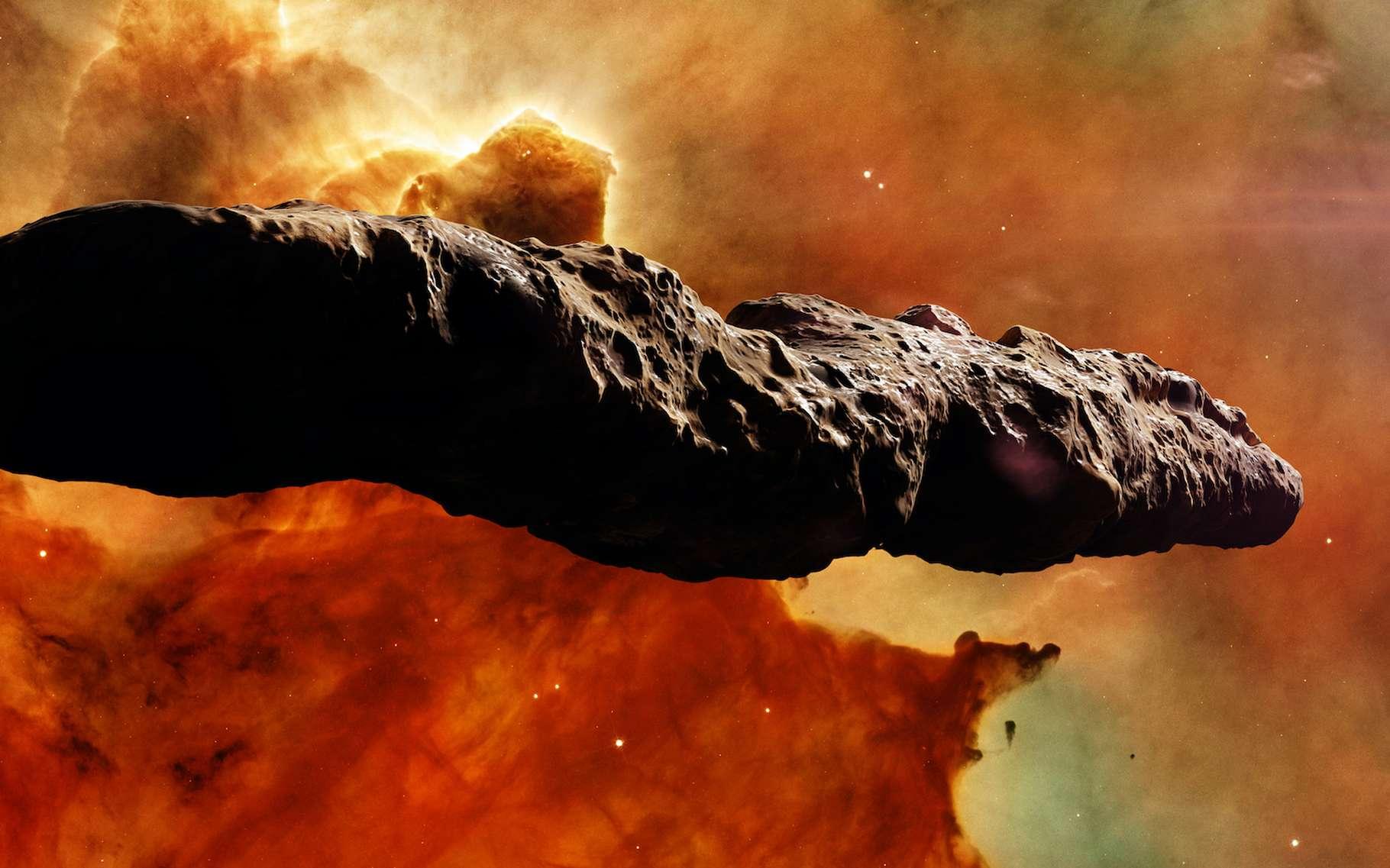 Des astrophysiciens ont peut-être trouvé un moyen d'expliquer les étranges caractéristiques de 'Oumuamua. En considérant qu'il est fait de glace d'azote, comme on en trouve à la surface de Pluton. Il s'agirait donc finalement d'un fragment d'une exoplanète. © dottedyetti, Adobe Stock