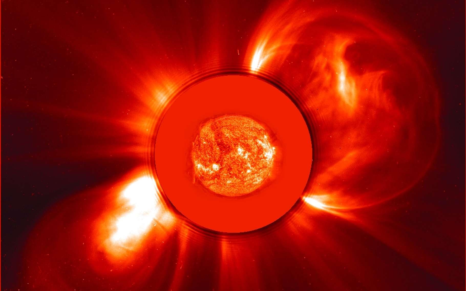 Cette image prise par l'observatoire solaire et héliosphérique Soho (Nasa, ESA) a été publiée pour célébrer les 20 ans de mission de la sonde. Elle passe aujourd'hui le cap des 25 ans ! © Nasa