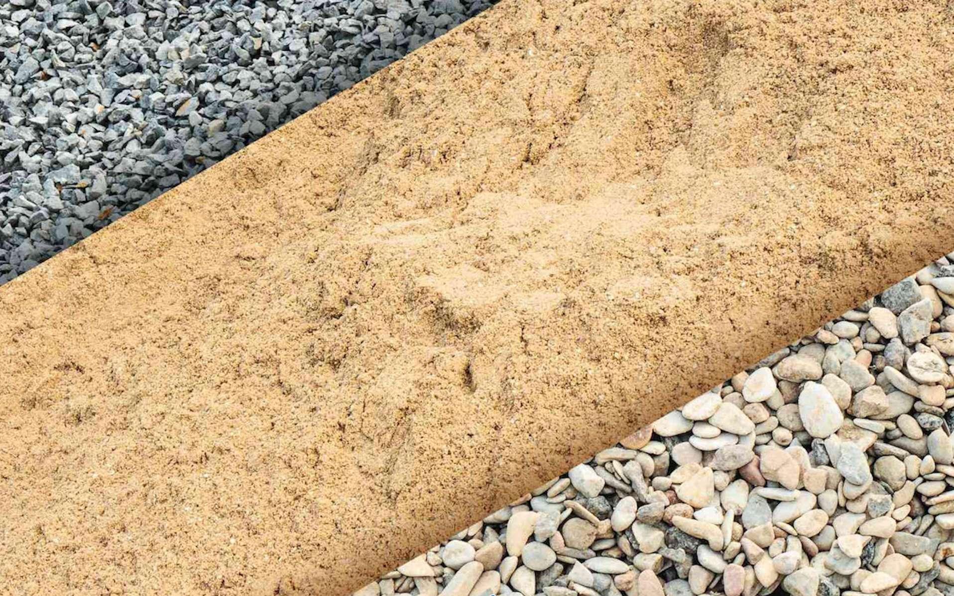Les granulats, des fragments de minéraux de grosseurs différentes. © Teralta CRH