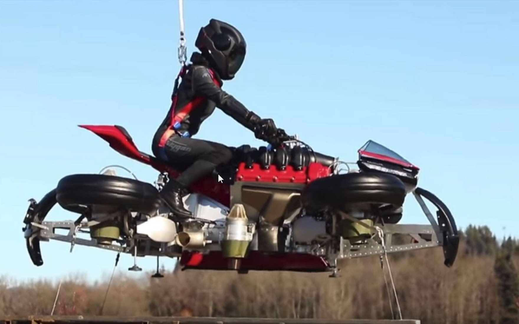 La moto volante Lazareth LMV 496. © Lazareth