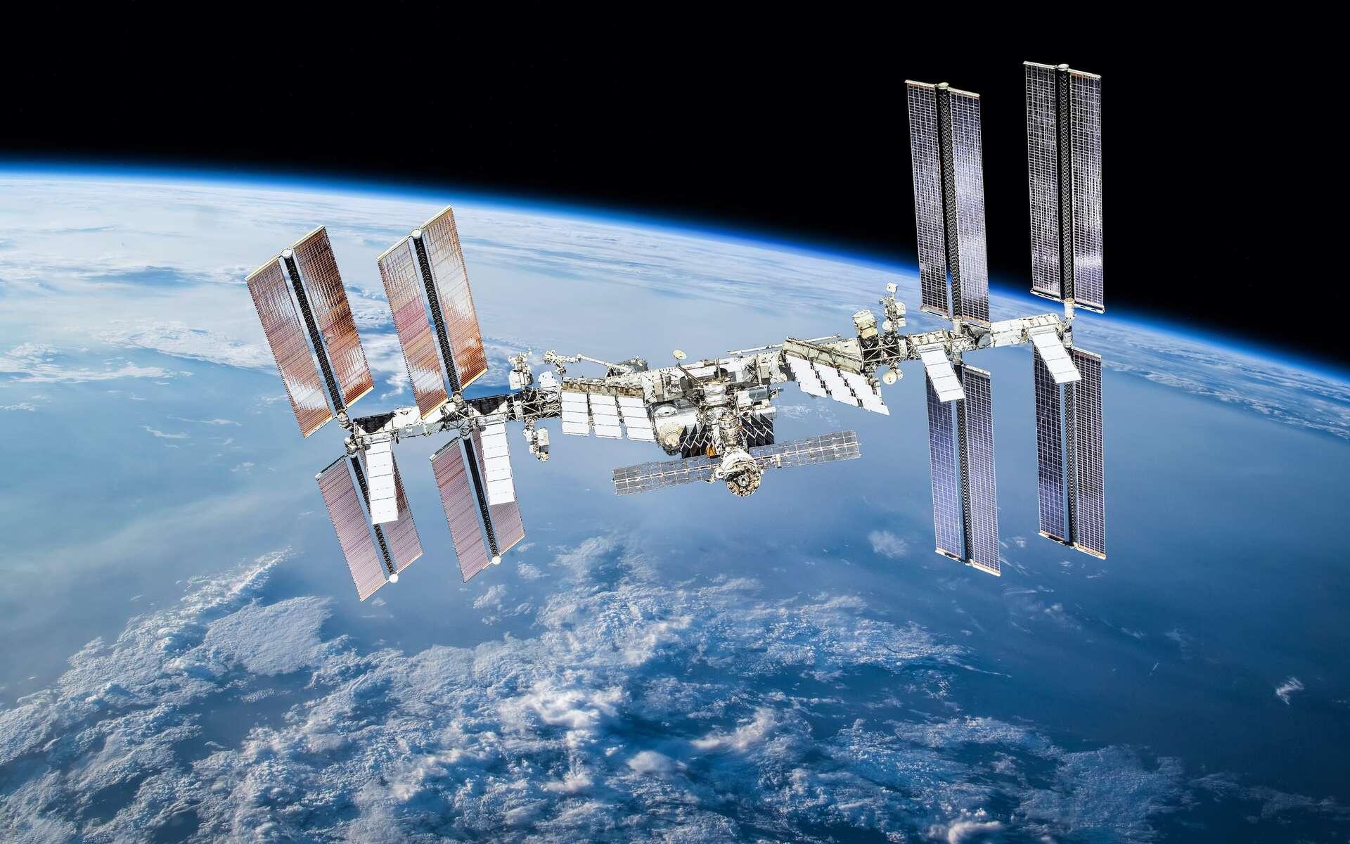 Illustration de la Station spatiale internationale. © dimazel, Adobe Stock