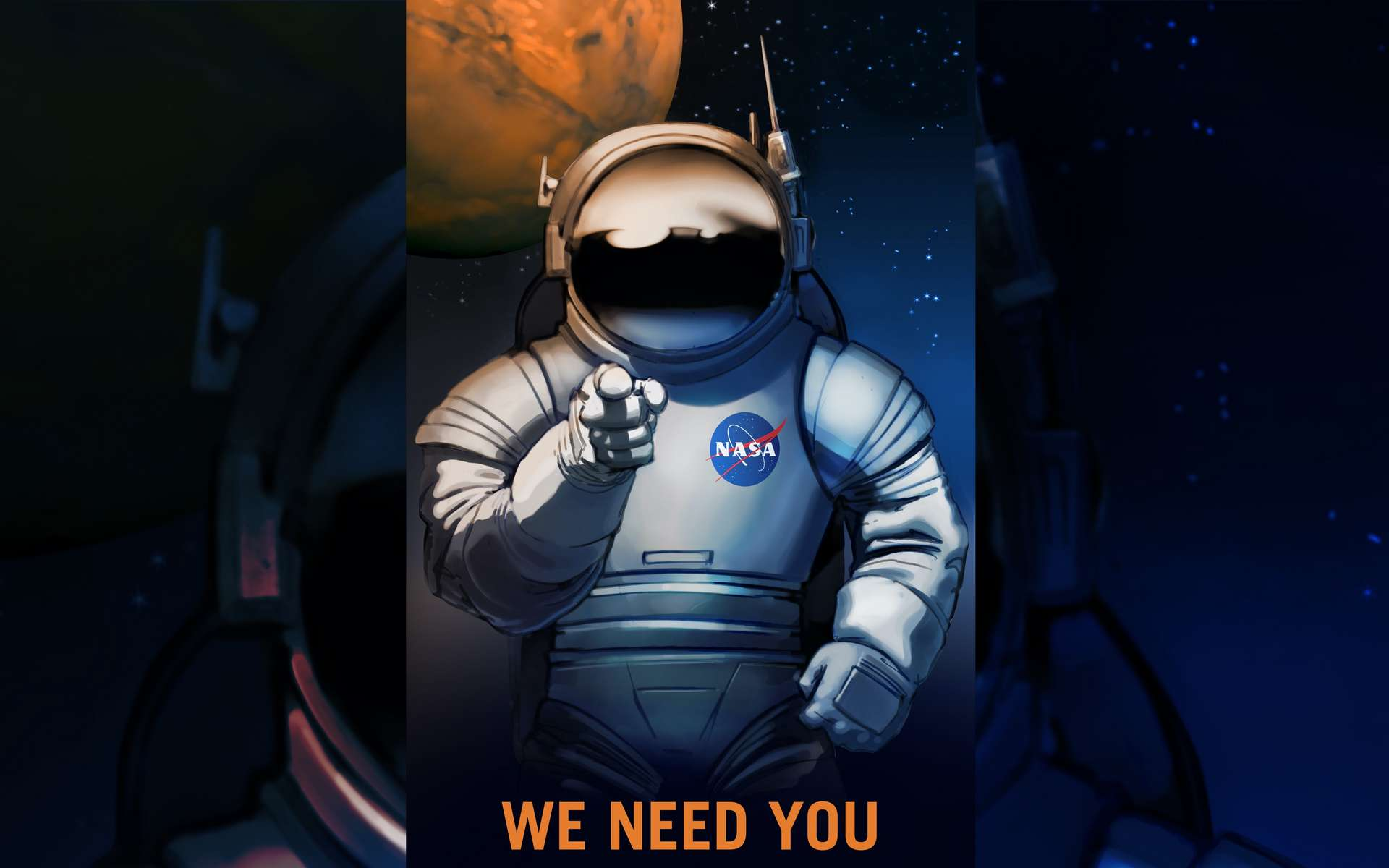 « Nous avons besoin de vous » ! Affiche de la Nasa. © Nasa, KSC