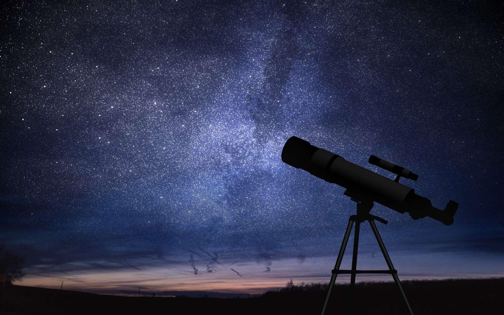 Une lunette astronomique permet d'observer les planètes. © vchalup, Fotolia