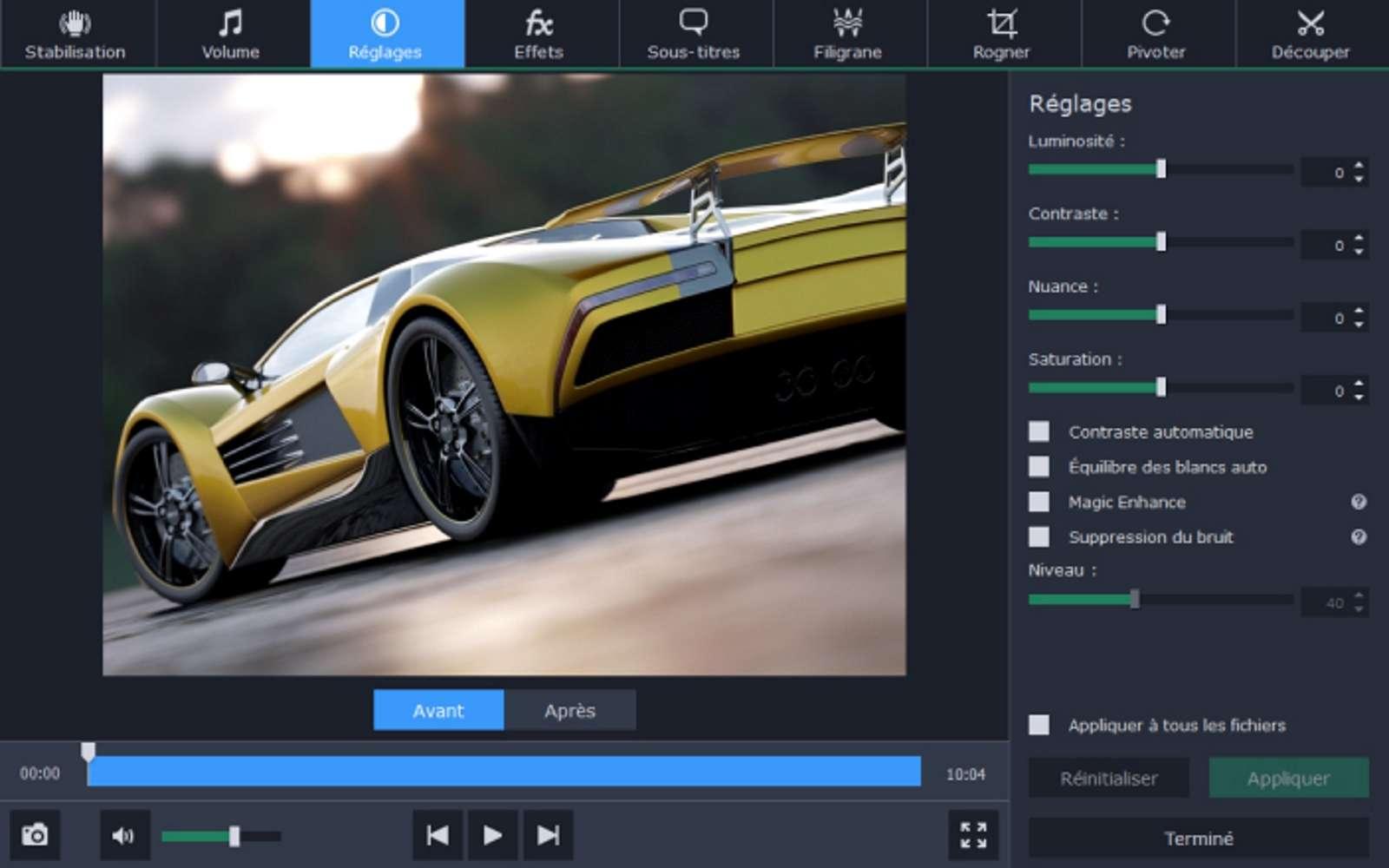 Les logiciels de conversion permettent d'alléger les fichiers vidéo bruts sans pour autant dégrader la qualité originelle. © Movavi