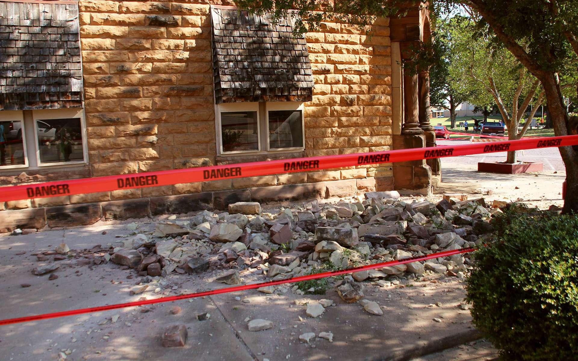 Dégâts matériels dans la ville de Pawnee après le séisme de magnitude 5,6. © Lenzy Krehbiel-Burton, Reuters