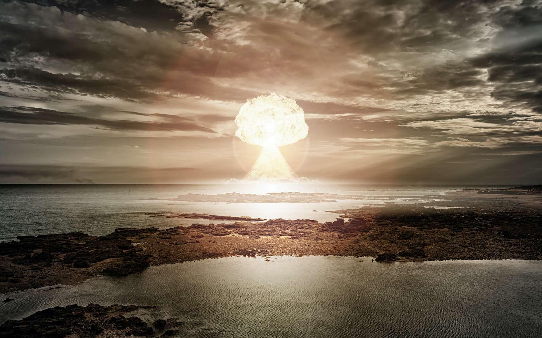 Des chercheurs de l'Institut d'études géologiques des États-Unis montrent comment une explosion nucléaire peut provoquer une tempête géomagnétique. © magann, Adobe Stock