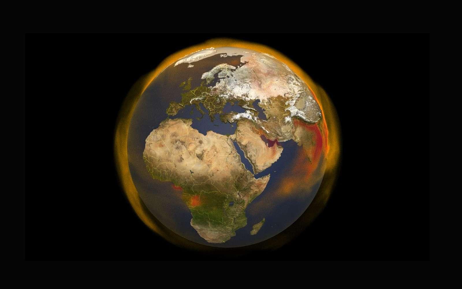 L'agriculture et l'élevage sont des sources d'émission de méthane (CH4) de plus en plus importantes dans le monde. © Nasa