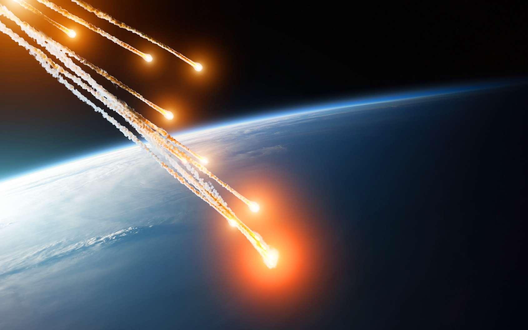 Météorites tombant sur Terre. © aapsky, fotolia