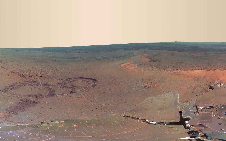 Ce panorama réalisé par le rover martien Opportunity pendant l'hiver martien se compose de 817 images. © Nasa/JPL-Caltech/Cornell/Arizona State University