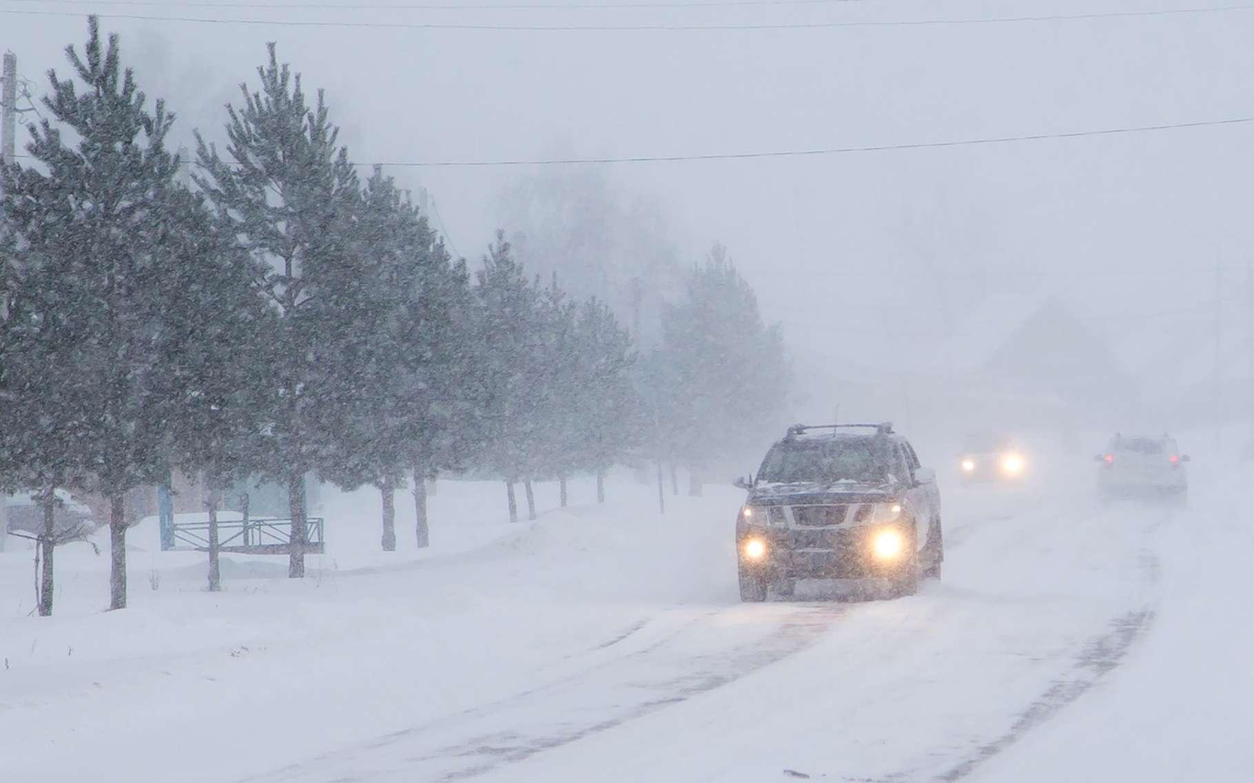Températures négatives, vents violents et faible visibilité sont les principales caractéristiques du blizzard. © vitec40, Fotolia