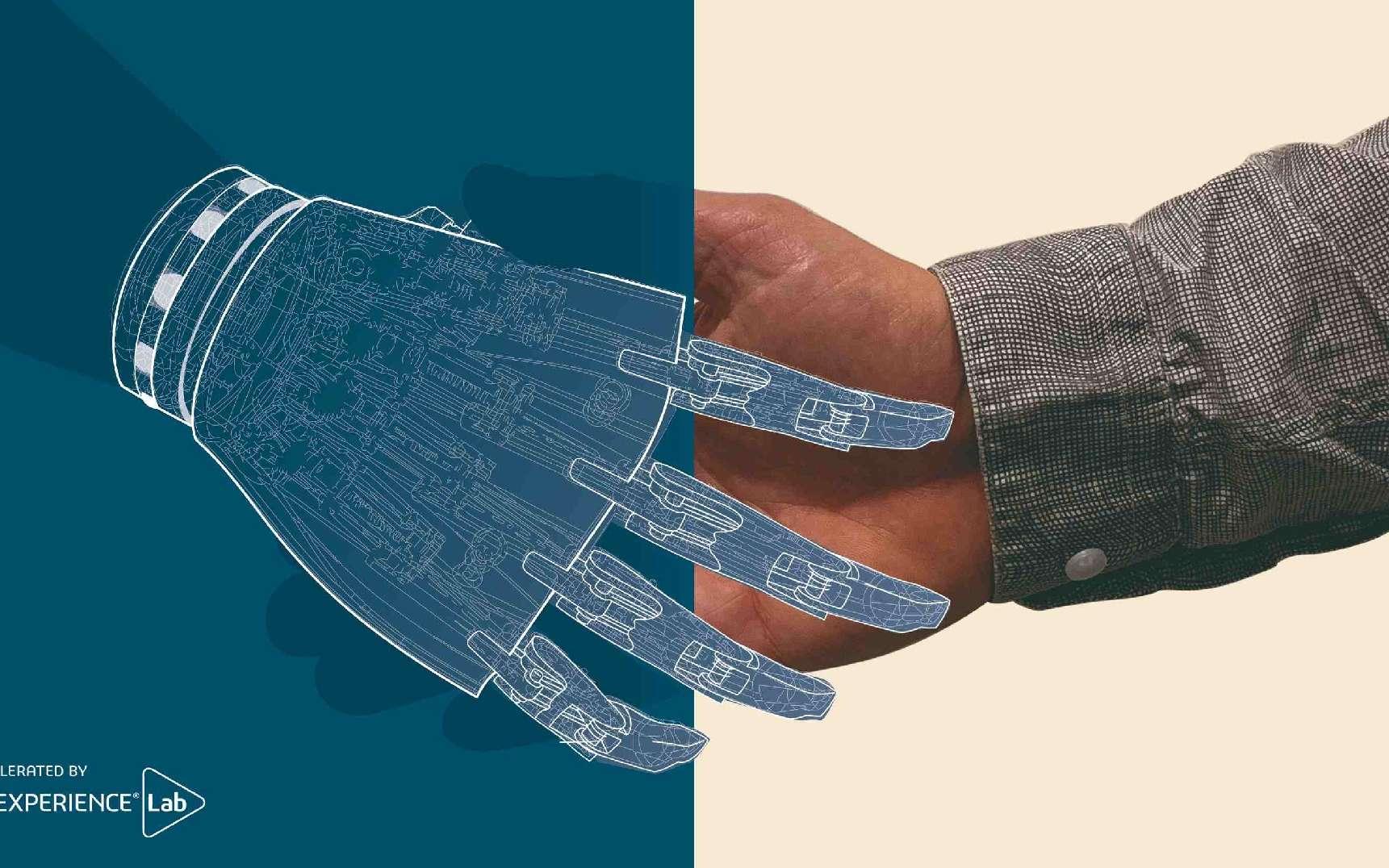 La prothèse de bras bionique d'Inlay est 100 fois moins chère que ses concurrentes. © Marine Tronel, 3DEXPERIENCE Lab