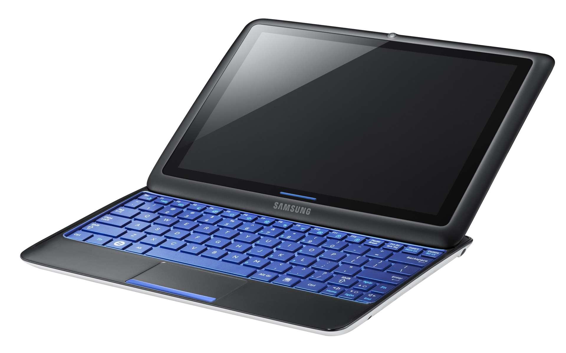 Le Samsung Sliding PC 7, une tablette-ordinateur plutôt originale. © Samsung