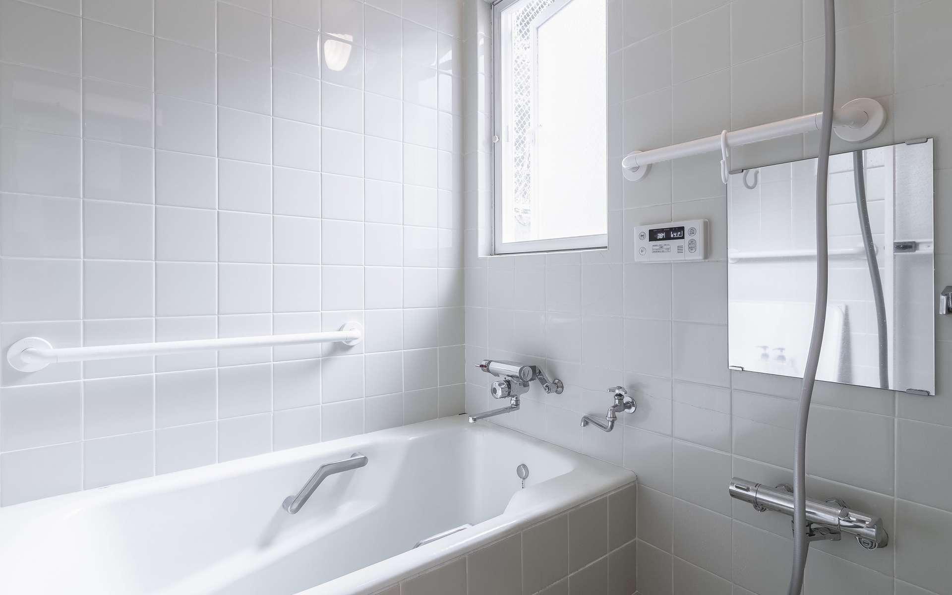 Travaux de peinture pour carrelage de salle de bains. © torsakarin, AdobeStock