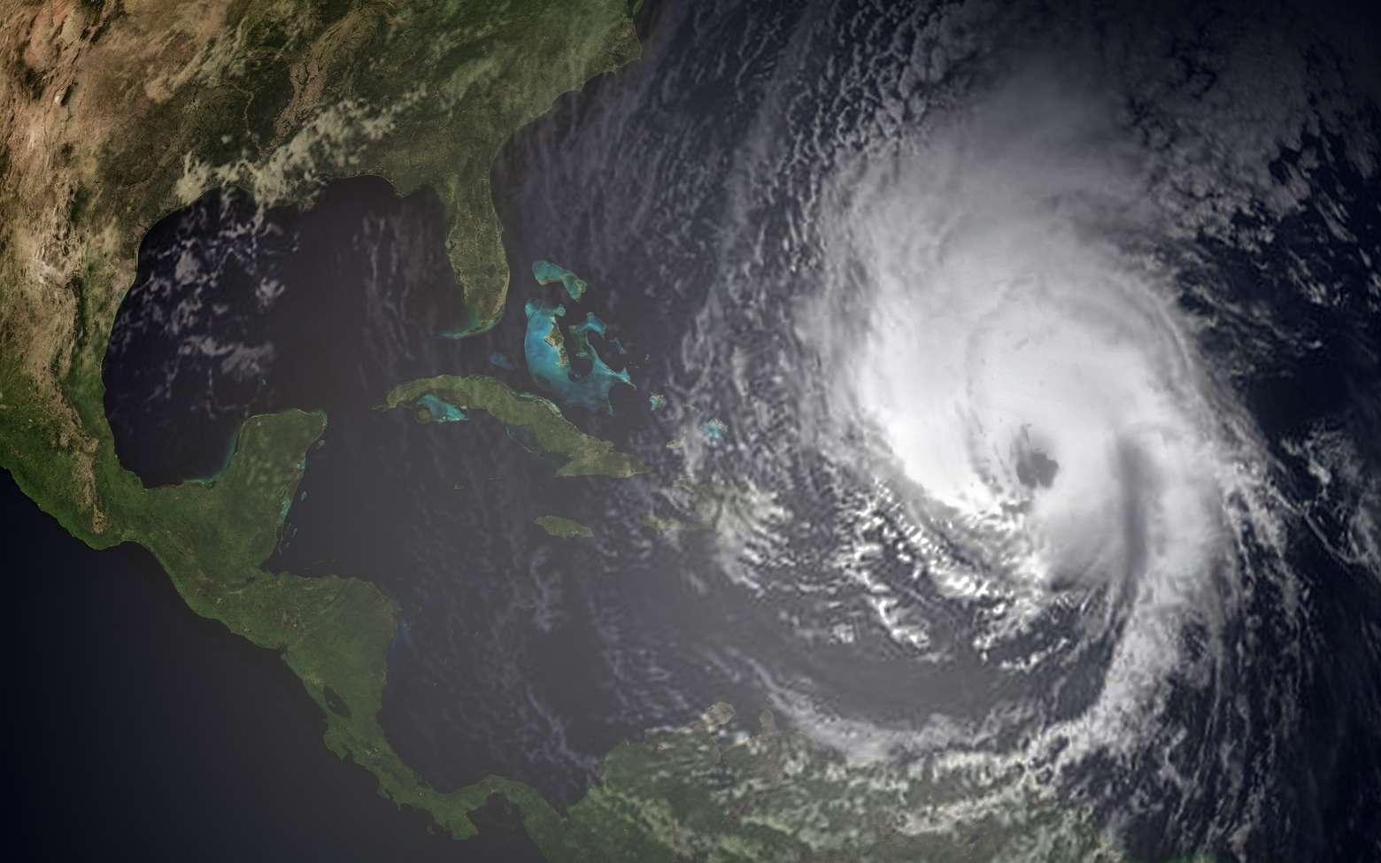 Un ouragan (un vrai) vu de l'espace. © Sasa Kadrijevic, Fotolia