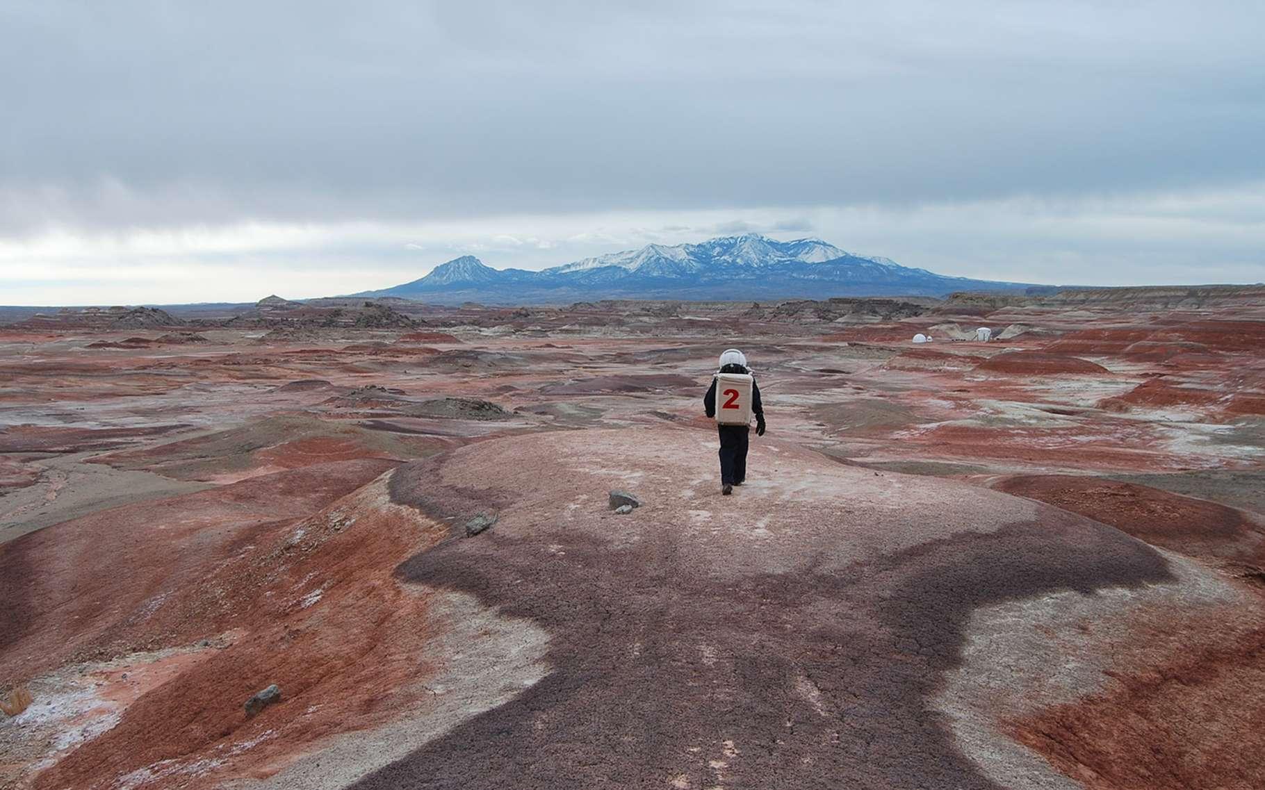 La base martienne de la Mars Society, dans le désert de l'Utah, aux États-Unis. © Mars Society