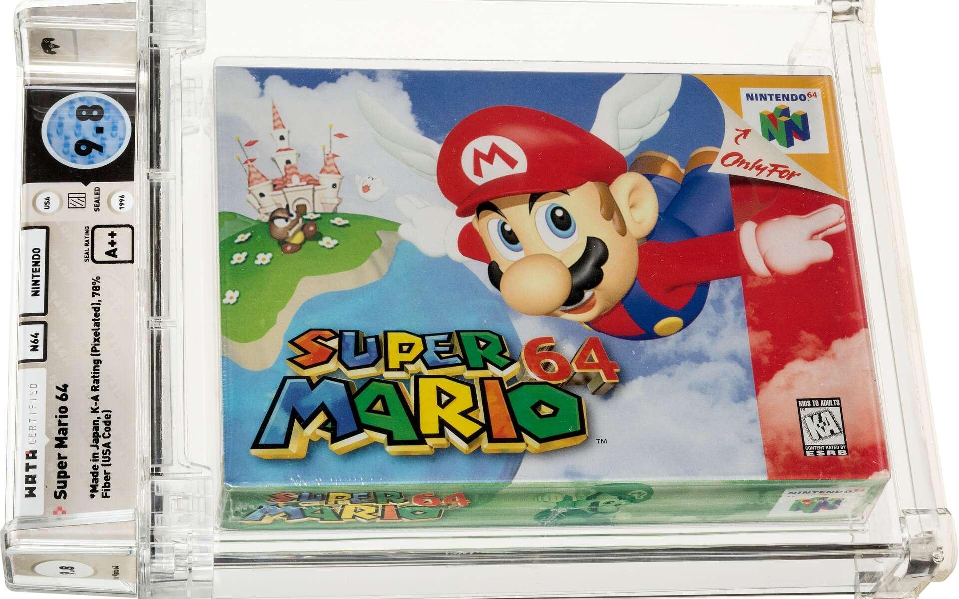Une cartouche du jeu Super Mario 64 s'est vendue à plus de 1,5 million de dollars. © Heritage Auctions