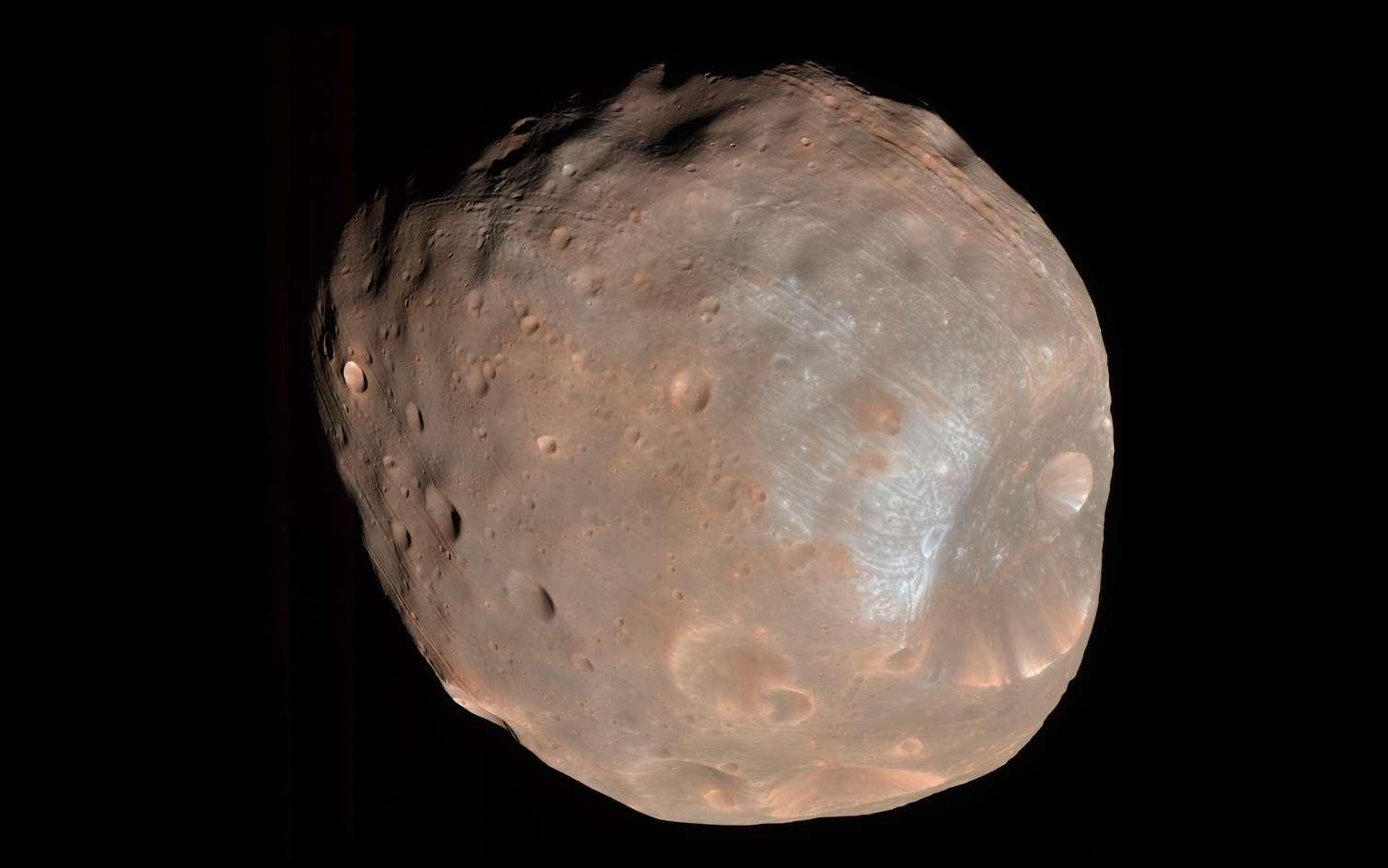 Phobos, petite lune de Mars, ici, photographiée par la sonde MRO. © Nasa/JPL-Caltech/University of Arizona