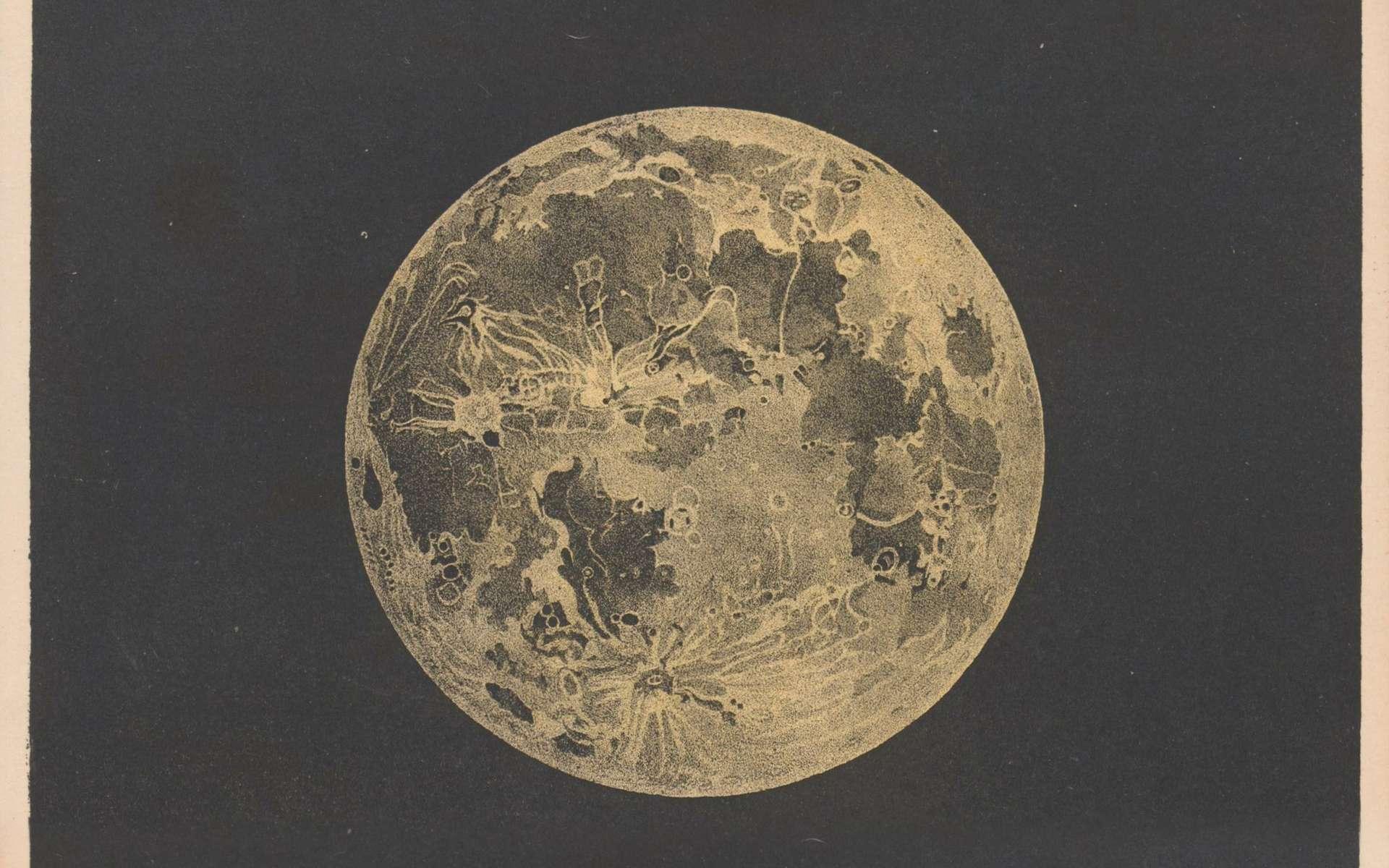 Aidés d'une carte sélénographique, les trois amis observent la surface lunaire. © Sergey Kamshylin, Adobe Stock