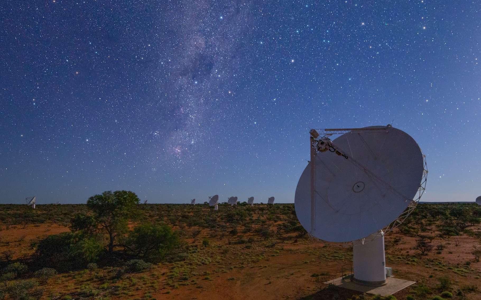 C'est grâce à l'Australian Square Kilometre Array Pathfinder, l'ASKAP (Australie) que des chercheurs sont parvenus à cartographier le ciel austral avec une précision inégalée. © CSIRO