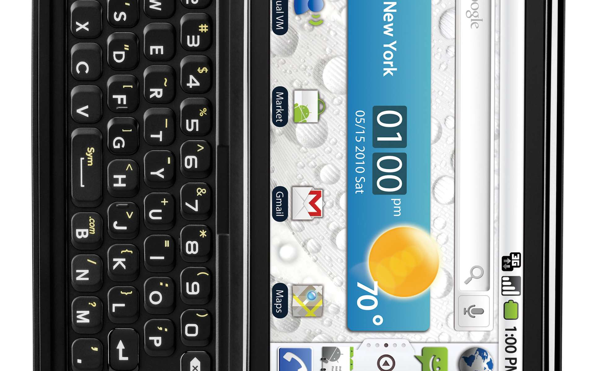 Les mobiles sous Android (ici un modèle de LG Electronics pourront bientôt servir à lire des livres... © LG Electronics