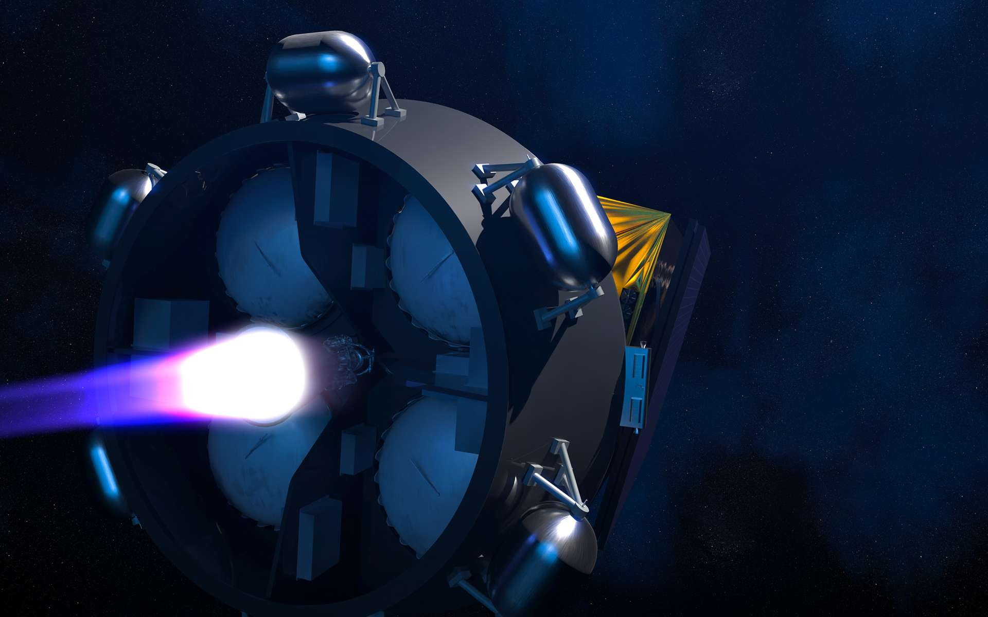 Avec Astris, un étage additionnel financé par l'ESA et réalisé par ArianeGroup, Ariane 6 sera encore plus polyvalente et attractive. © ArianeGroup