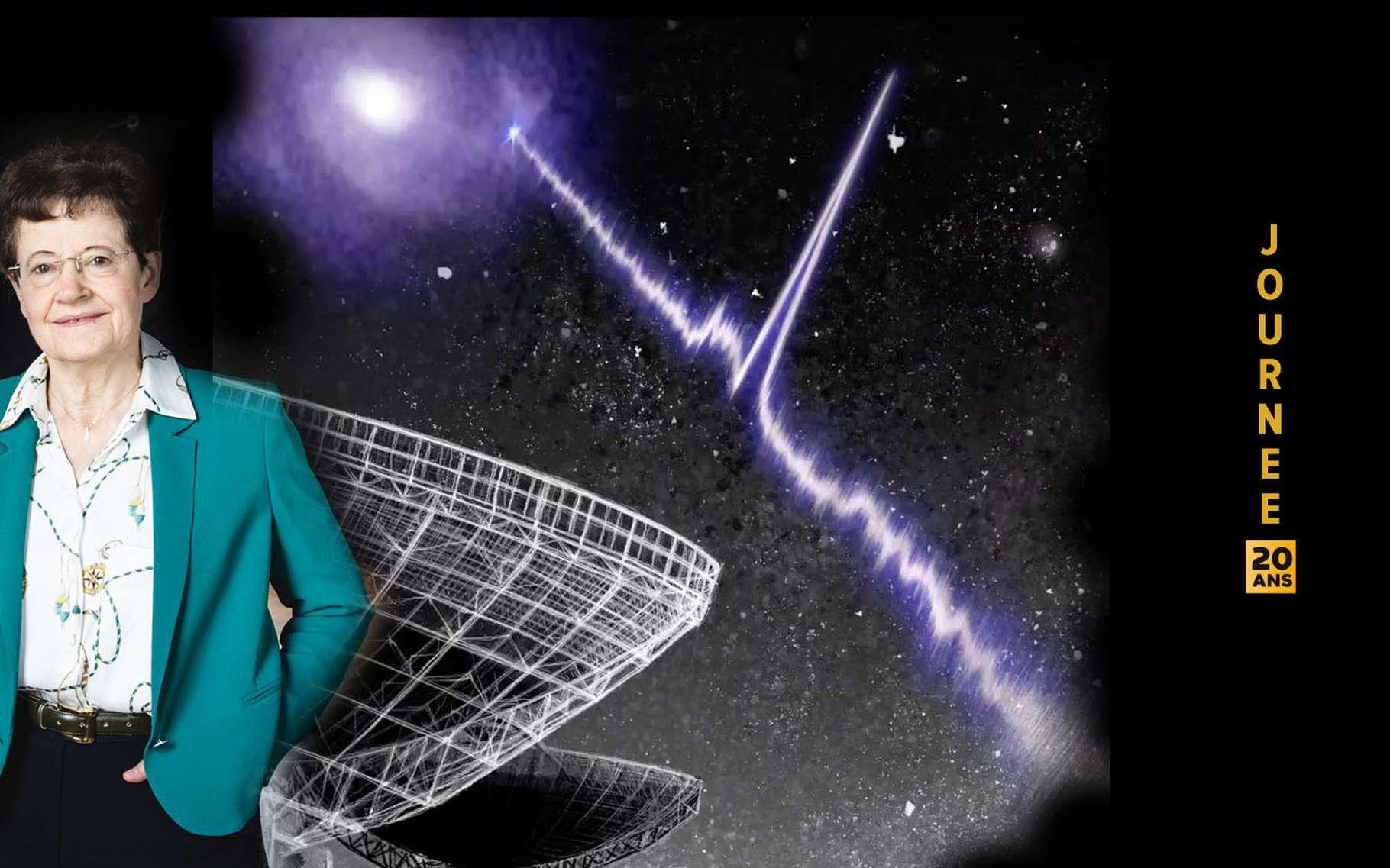 Le radiotélescope canadien Chime devrait aider les astronomes à enfin élucider le mystère des sursauts radio rapides. © Chime
