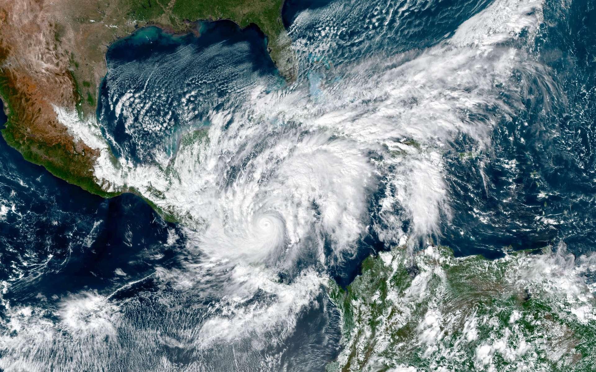 L'ouragan Eta vu de l'espace le 3 novembre lors de son passage en Amérique centrale. © Nasa, EarthObservatory