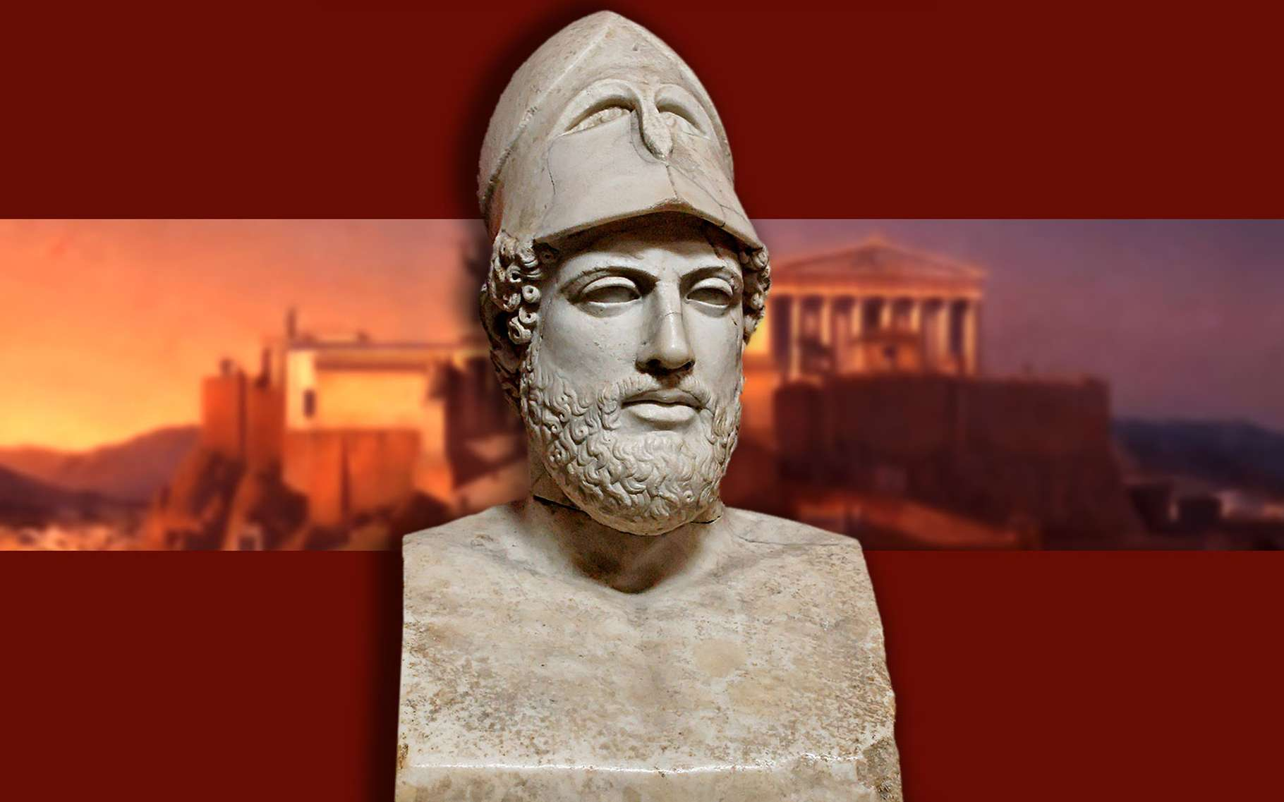 Périclés, vue sur l'Acropole d'Athènes. © Jastrow, Neue Pinakothek, Wikimedia commons, DP