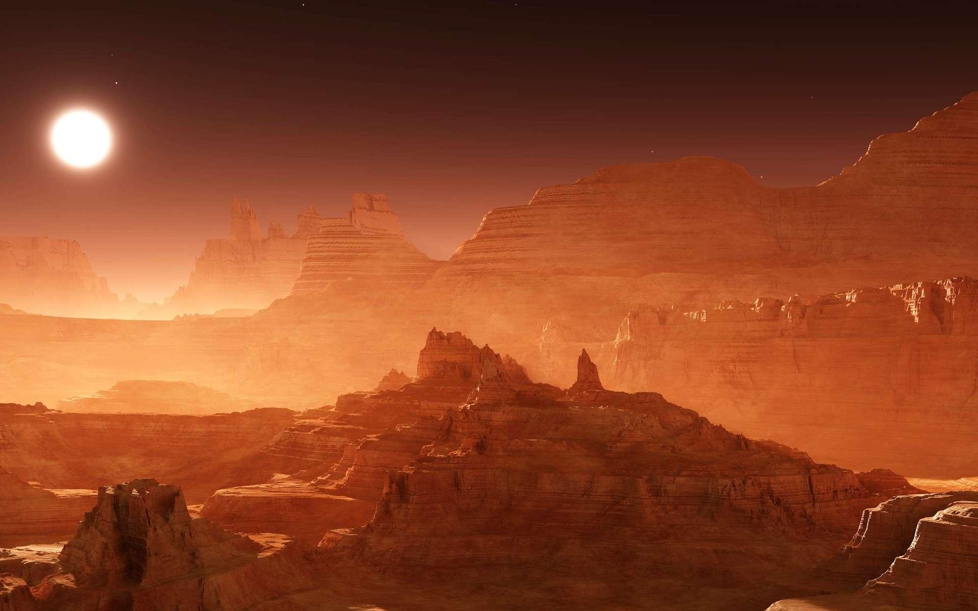 Si la vie a existé sous la surface de Mars, elle pourrait avoir survécu jusqu'à aujourd'hui, assure des chercheurs de l'université Brown (États-Unis). © ustas, Adobe Stock