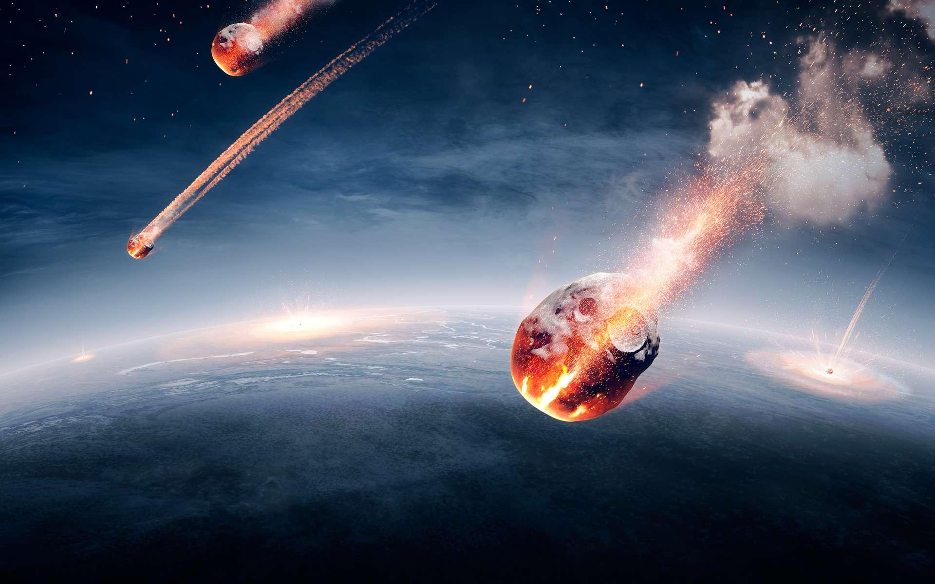 Selon des chercheurs de l'université d'Osaka au Japon, la Terre a été bombardée par une pluie de météorite il y a 800 millions d'années. © JohanSwanepoel, Adobe Stock