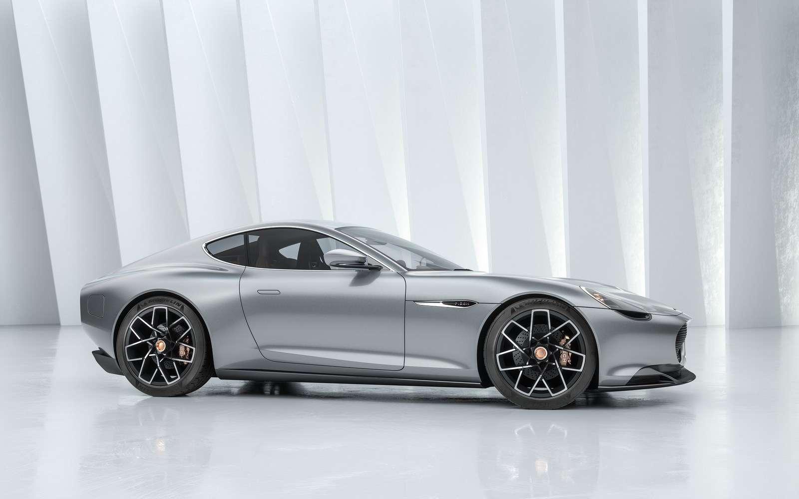 Le masque avant de la Mark Zero rappelle beaucoup le style Aston Martin. © Piëch