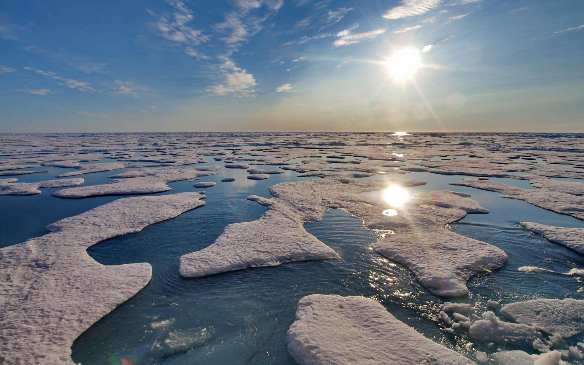 La fonte des glaces a un impact significatif sur la stratification de l'océan Arctique. © Michael Tjernström, imaggeo.egu.eu