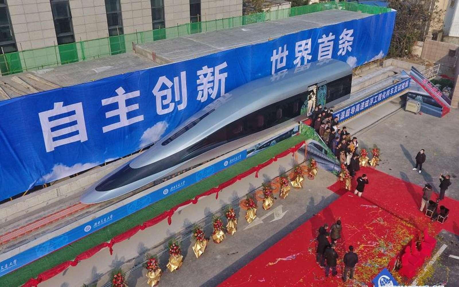 Le Maglev chinois pourrait permettre de parcourir les 1.300 km qui séparent Shanghai de Pékin en seulement 3 h 30 min. © NEWS.CN