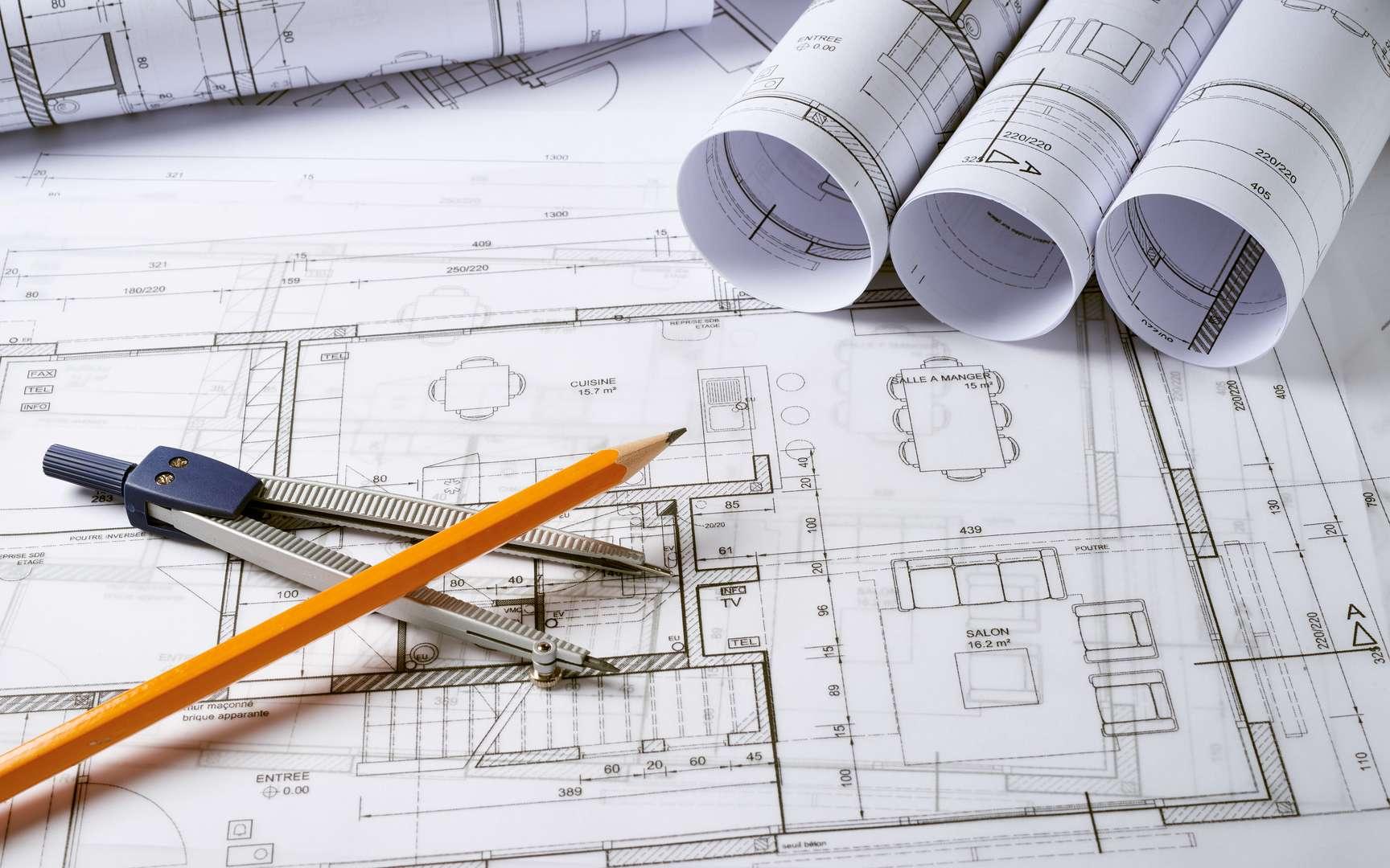 Le plan de masse est une représentation graphique à présenter lors d'une demande de permis de construire. © MFR Maison Familiale Rurale