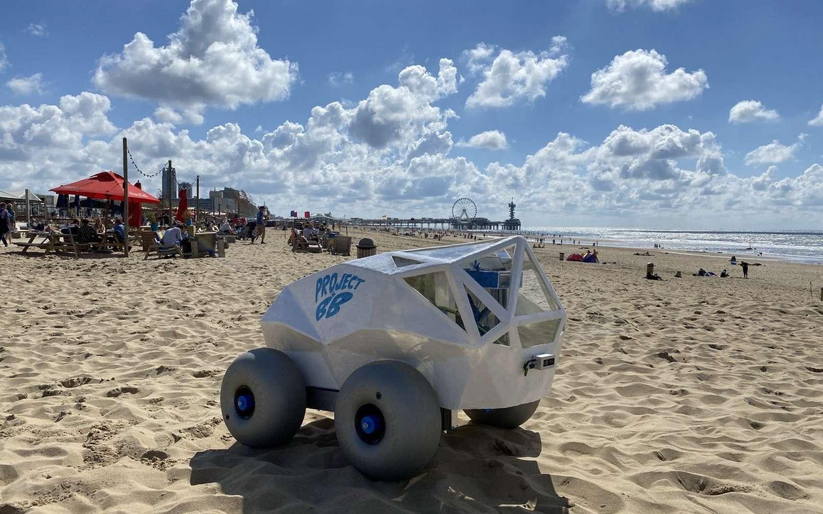 Le robot BeachBot ramasseur de mégots sur les plages. © Project BB