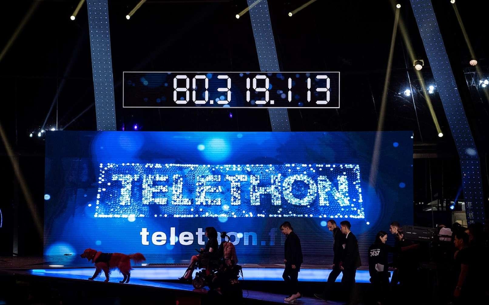 Pendant le Téléthon 2016. © Philippe Lopez, AFP