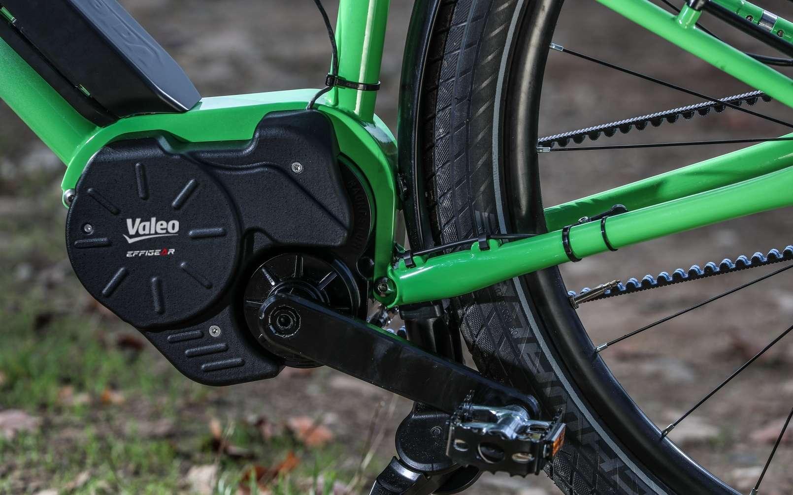 Valeo s'est associé au français Effigear qui a conçu la boite de vitesse automatique adaptative. © Valeo
