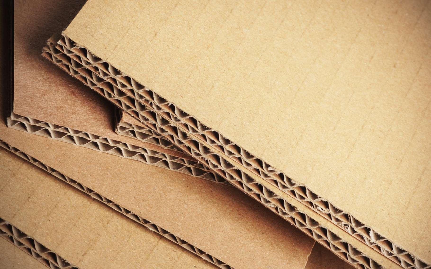 Le carton ondulé est très utilisé pour les emballages. Aujourd'hui, des chercheurs présentent un nanomatériau dont la structure rappelle celle du carton ondulé. Il pourrait trouver de nombreuses applications. © Olivier Le Moal, Fotolia