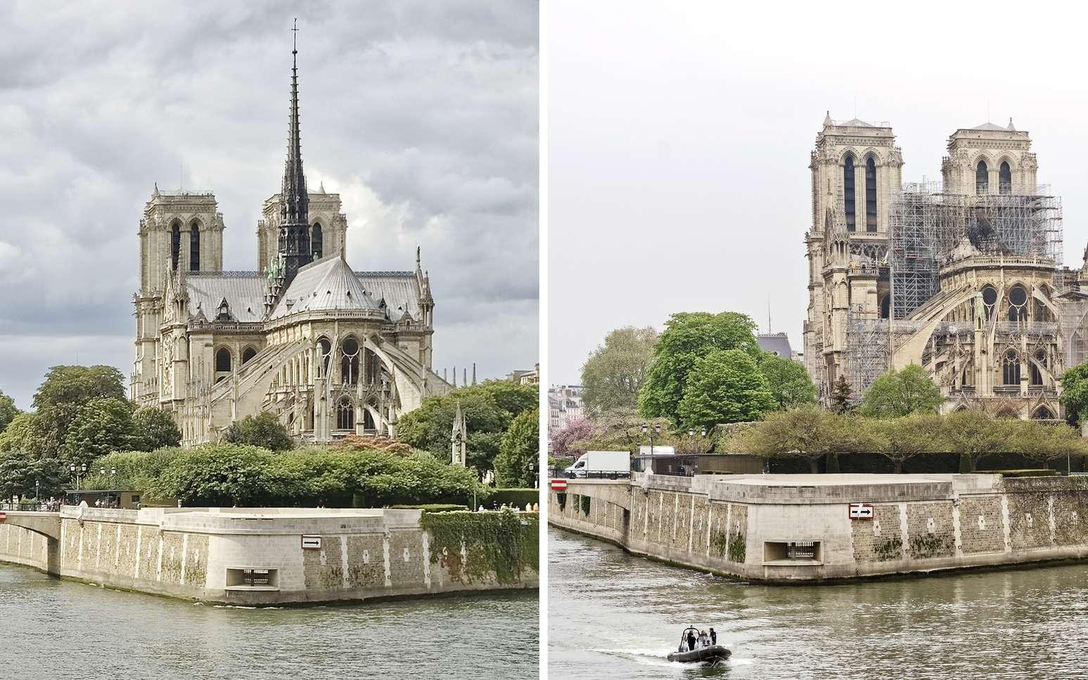 Notre-Dame de Paris, avant et après © Jean-Paul Bounine
