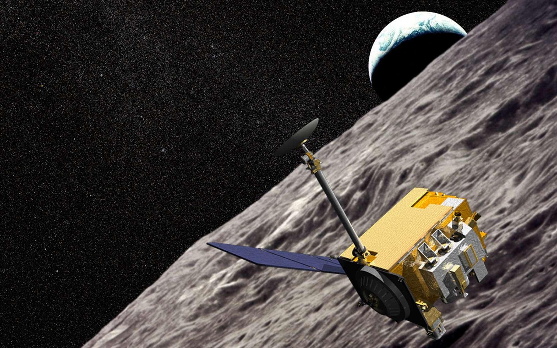 Vue d'artiste de la sonde lunaire LRO, lancée en juin 2009 et toujours en activité. © Nasa, GSFC