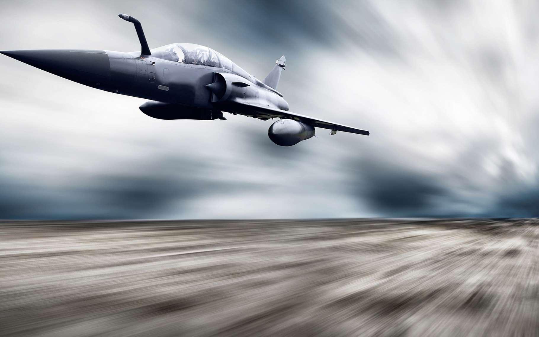 Lorsqu'un véhicule, généralement un avion de chasse, dépasse la vitesse du son dans l'air, on dit qu'il franchit le mur du son. © Andrey Yurlov, Shutterstock