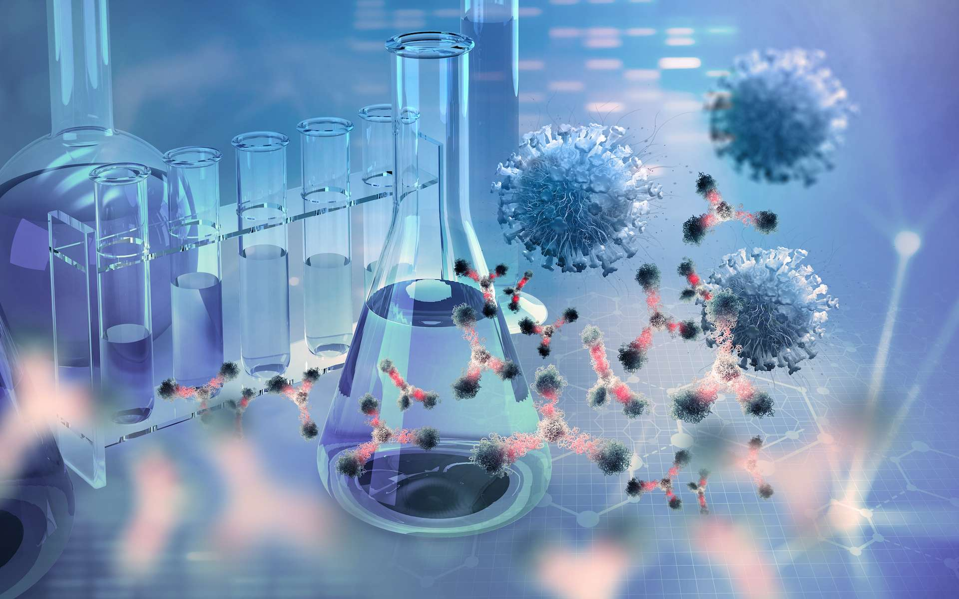 Les cocktails d'anticorps polyclonaux, en prévention ou en traitement curatif de la Covid-19. © Siarhei, Adobe Stock